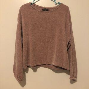 Blush pink bubble sleeve sweater